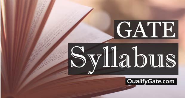 GATE 2018 Syllabus