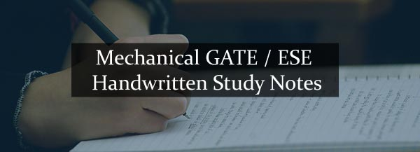 Mechanical GATE / ESE Handwritten Study Material