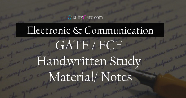 MADE Easy Handwritten Notes for ECE Branch for GATE | ESE