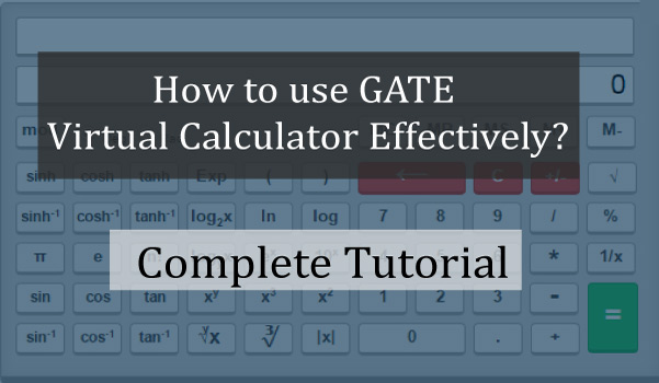 GATE Virtual Calculator Complete Tutorial