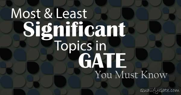 List of Important Topics – You Can't miss them during GATE Preparation