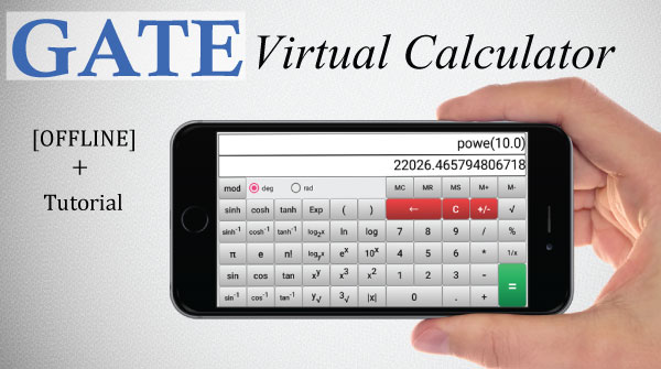 GATE virtual calculator android app