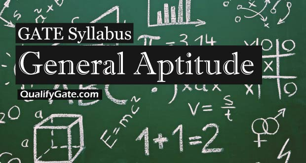 GATE 2018 Syllabus for General Aptitude