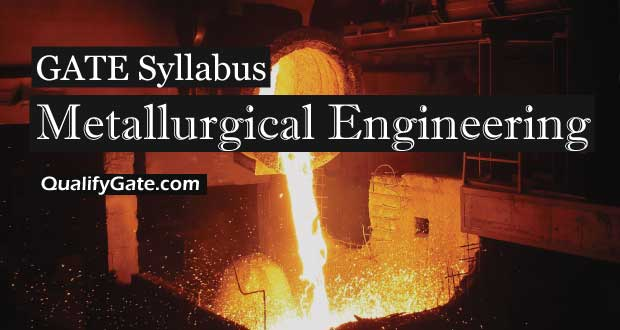 Gate 2018 Syllabus For Metallurgical Engineering Mt