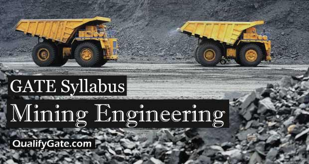 Gate 2018 Syllabus For Mining Engineering Mn Pdf