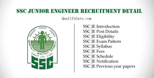 SSC JE 2019 : Complete Recruitment Detail