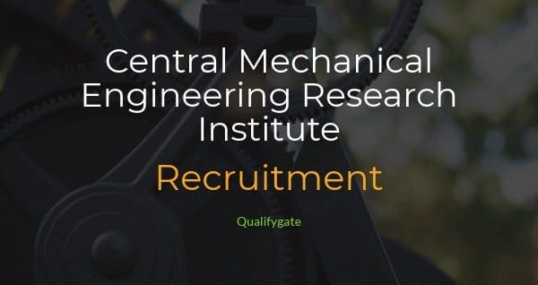 CMERI Recruitment 2018