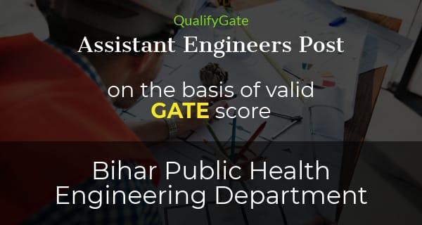 Bihar PHED Assistant Engineers Recruitment 2018